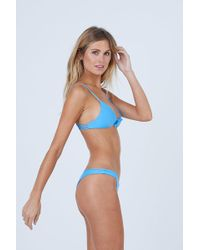 Aila Blue - Cathedral Front Tie Bikini Top - Patriot Blue - Lyst