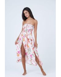 Shore Projects - Capri Strapless Dress - Summertime Blooms - Lyst