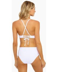Ella Moss - Sheer Dot High Waisted Bikini Bottom - White - Lyst
