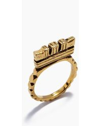 "Vanessa Mooney - Fight The Power ""c"" Ring - Gold - Lyst"