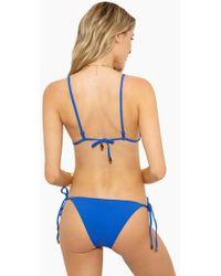 Rosa Cha - Basic Side Tie Bikini Bottom - Solid Blue - Lyst