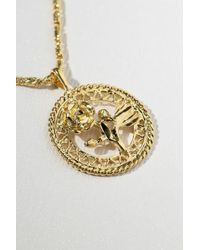 Vanessa Mooney - The Gold Rossa Charm Necklace - Gold - Lyst