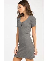 RVCA - Zip It Ribbed Dress - Black - Lyst