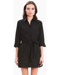 Amita Naithani - Signature Eyelet Big Shirt Dress - Black - Lyst