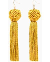 Vanessa Mooney - Gold Astrid Knotted Tassel Earrings - Lyst