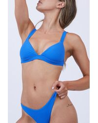 Vitamin A - Neutra Triangle Top - Ecorib Beach Blue - Lyst
