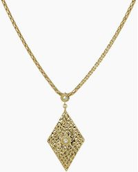 Luv Aj - The Hammered Triangle Charm Necklace - Gold - Lyst