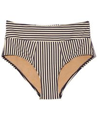 Marlies Dekkers - Holi Vintage High Waist Briefs Bikini Bottom - Blue Ecru - Lyst