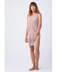 Indah - Granita Crochet Dress - Dahlia - Lyst