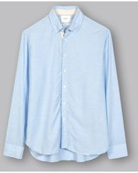 4d61b86249 Lyst - Billy Reid Irvine Shirt in Blue for Men
