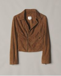 Billy Reid - Suede Moto Jacket - Lyst