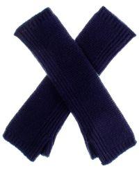 Black.co.uk - Long Navy Cashmere Wrist Warmers - Lyst