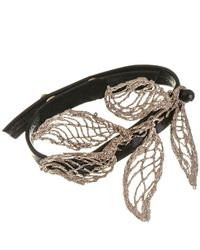 Black.co.uk - Electra Bronze And Leather Bracelet - Lyst