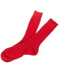Black.co.uk - Men's Cardinal Red Cashmere Socks - Lyst