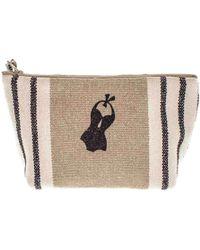 Black.co.uk - Deauville Medium Linen Make Up Bag - Lyst