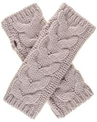 Black.co.uk - Blush Thick Cable Cashmere Wrist Warmers - Lyst