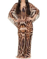 Black.co.uk - Tiger Print Kaftan - Lyst