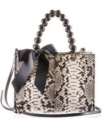 Black.co.uk - Ivory, Grey And Taupe Python Shoulder Bag - Lyst