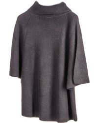 Black.co.uk - Black Roll Neck Cashmere Sleeved Poncho - Lyst