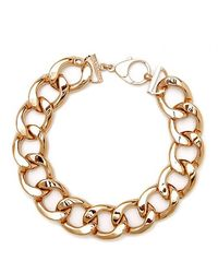 Black.co.uk - Rose Gold Link Necklace - Lyst