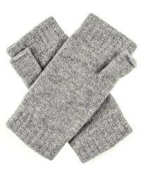 Black.co.uk - Ladies Light Grey Cashmere Mittens - Lyst