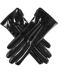 Black.co.uk - Black Patent Leather Gloves - Lyst