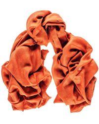 Black.co.uk - Burnt Orange Cashmere And Silk Wrap - Lyst