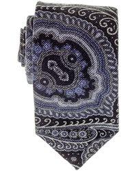 Black.co.uk - Cecita Navy And Blue Italian Cotton Tie - Lyst