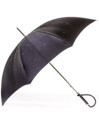 Black.co.uk - Swarovski Crystal Luxury Double Canopy Italian Umbrella - Lyst