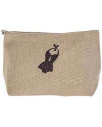 Black.co.uk - Biarritz Large Linen Make Up Bag - Lyst