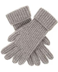 Black.co.uk - Men's Grey Rib Knit Cashmere Gloves - Lyst