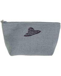 Black.co.uk Vence Medium Linen Make Up Bag - Gray