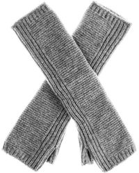 Black.co.uk - Long Grey Cashmere Wrist Warmers - Lyst