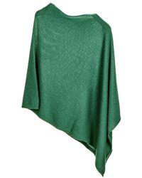 Black.co.uk - Bottle Green Knitted Cashmere Poncho - Lyst