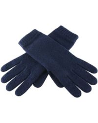 Black.co.uk - Ladies' Navy Blue Cashmere Gloves - Lyst
