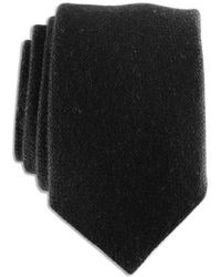 Black.co.uk - Black Knitted Cashmere Tie - Lyst