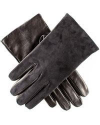 Black.co.uk - Mens Black Suede And Leather Gloves - Cashmere Lined - Lyst
