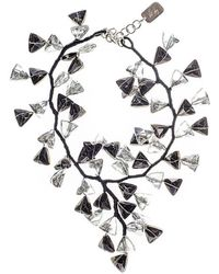 Black.co.uk - Black And White Smokey Quartz Crystal Waterfall Necklace - Lyst