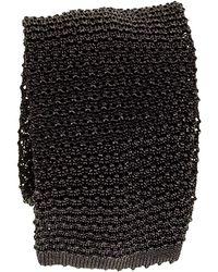 Black.co.uk - Black Italian Knitted Silk Tie - Lyst