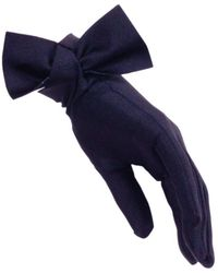 Black.co.uk - Navy Bow Cocktail Gloves - Lyst