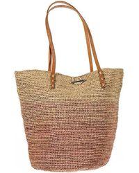 Black.co.uk - Tilos Pink And Natural Raffia Beach Bag - Lyst