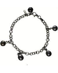 Black.co.uk | Dido Tahitian Black Pearl Charm Bracelet | Lyst