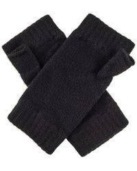 Black.co.uk - Ladies Black Fingerless Mittens - Lyst