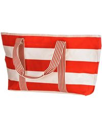 Black.co.uk   Salsa Red And White Striped Beach Bag   Lyst