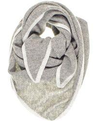 Black.co.uk - Tone Grey Triangle Cashmere Neck Tie - Lyst