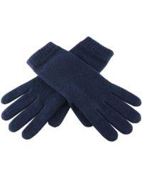 Black.co.uk - Ladies' Navy Blue Cashmere Gloves - Lyst
