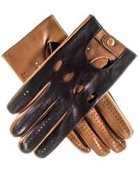 Black.co.uk - Black And Tan Leather Driving Gloves - Lyst
