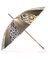 Black.co.uk Animal Print Italian Luxury Double Canopy Umbrella