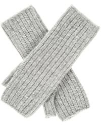 Black.co.uk - Grey Mid Length Cashmere Wrist Warmers - Lyst