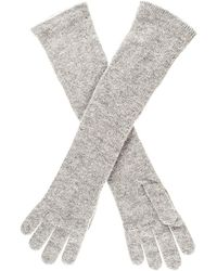 Black.co.uk - Long Grey Italian Cashmere Gloves - Lyst